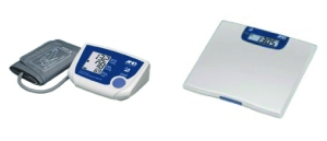Wireless, blue-tooth enabled blood pressure & scale