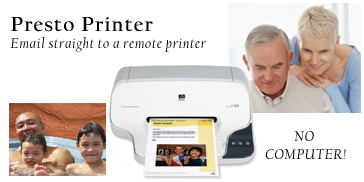 Presto Printer emails direct to a remote printer